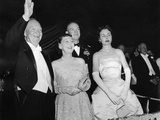 President Eisenhower and First Lady Mamie Greeting the Crowd at an Inaugural Ball Photo