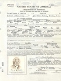 Albert Einstein's Petition for Naturalization Photo