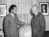 President Eisenhower Meeting with Vp Richard Nixon Prior to His South American Trip Photo