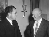 President Eisenhower and Vice President Nixon During the 1956 Presidential Campaign Photo