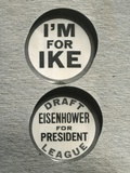 1948 Campaign Buttons of the 'Draft Eisenhower for President League' Photo