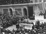 President Warren Harding before a Joint Session of Congress, April 12, 1921 Photo