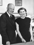 President Dwight Eisenhower and Wife Mamie, 1953 Photo