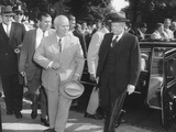 Premier Khrushchev and President Eisenhower on the Last Day of His American Visit Photo