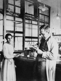 Physicist Lise Meitner and Radiochemist Otto Hahn in Berlin-Dahlem, Germany, 1913 Photo