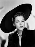 Maria Montez, Modeling a Black Felt and Velvet Hat by Jacques Fath, 1946 Photo