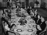 Mamie Eisenhower Has a Big Family Dinner at the White House on Her Birthday Photo
