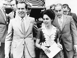 President Richard Nixon, Daughter Julie, and Friend Charles Rebozo in Miami Photo