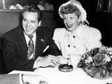 From Left, Desi Arnaz, Lucille Ball, at the Stork Club, 1947 Photo