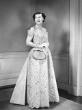 First Lady Mamie Eisenhower in Her Beaded Inaugural Gown Photo
