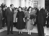 President and Mamie Eisenhower Welcome Queen Elizabeth II and Prince Philip Photo