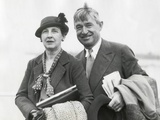 Will Rogers and His Wife Betty in Seattle in August 1935 Photo