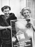 First Lady Mamie Eisenhower and Actress Mary Pickford Promote Defense Bonds Photo