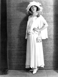 Betty Compson, Modeling a White Crepe Travelling Frock, 1923 Photo