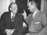 Republican Senator William Knowland with Democratic Sen. Lyndon Johnson Photo