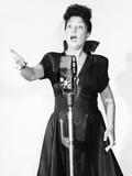 Ethel Merman at the NBC Radio Microphone, 1940s Photo
