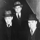 Dutch Schultz (Left) Leaving Jail in Albany, New York Photo