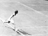 British Mary Hartwick in Tennis Match with Alice Marble of U Photo