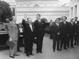 Soviet Premier Nikita Khrushchev Waves as He Arrives at the White House Photo
