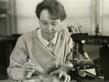 Barbara Mcclintock, in Her Laboratory at Cold Spring Harbor, New York, in 1947 Photo