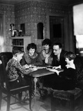 Dr. Karl A. Menninger, Psychiatrist, Playing a Game with His Family Photo