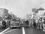 President Eisenhower Cheered in a Parade Down the Main Street of Atlantic City Photo