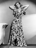 Joan Bennett in Scroll Motif Dinner Dress from I. Magnin, 1938 Photo