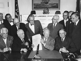 President Eisenhower at Signs the Saint Lawrence Seaway Act of 1954 Photo