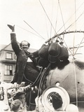 Auguste Piccard Waves as He Climbed into the Spherical Aluminum Capsule Photo