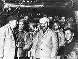 Soviet Workers Building the Moscow Subway are Visited by Communist Party Leaders Photo