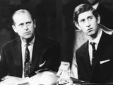 Prince Philip and His 21 Year Old Son, Charles, the Prince of Wales Photo