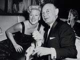 Boris Morros Posing with Ginger Rogers at the Harwyn Club in Nyc Photo