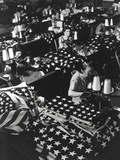Women Sewing American Flags in Brooklyn, New York City on July 24, 1940 Photo