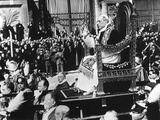 Pope Pius XII in Procession to Take Formal Possession of the Church of St Photo