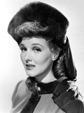 Jean Parker, Modeling a Beaver Hat with Brown Silk Jersey Drapery, 1941 Photo