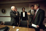 Meeting in the White House Emergency Operations Center, Sept. 11, 2001 Photo