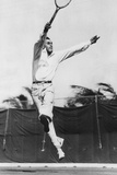 Bill Tilden, Tennis Champion of the 1920s in Flight on the Tennis Court Photo