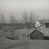 Soil Blown by Dust Bowl Winds Piled Up in Large Drifts on a Kansas Farm Photo