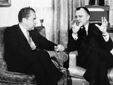 President-Elect Richard Nixon with Walter Hinkle, Dec. 19, 1968 Photo
