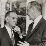 Sen. J. William Fulbright, and President Lyndon Johnson, June 15, 1966 Photo