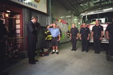 President George W. Bush Visits with Firefighters at Engine Co. 55 in New York City Photo