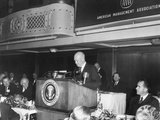President Eisenhower Speaking at American Management Association Dinner Photo