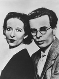 Aldous Huxley and His First Wife, Maria Nys Huxley, Ca. 1930 Photo