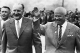 Soviet Premier Nikita Khrushchev with Hungarian Premier Janos Kadar, July 10, 1963 Photo