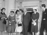 Queen Fredrika of the Hellenes (Greece) and Two of Her Children Visit the White House Photo