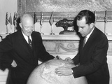 Vice President Richard Nixon Discusses His Far East Trip with President Eisenhower Photo