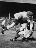 England's Goalkeeper Frank Swift, in an International Soccer Match Photo