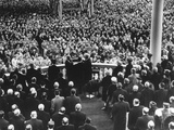 President Eisenhower Sworn in by Chief Justice Earl Warren at the Public Inauguration Photo