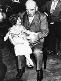 Financier J.P. Morgan with Circus Midget Lya Graf Sitting on His Knee, June 1, 1933. Photo