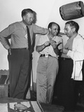 Atomic Physicists Ernest Lawrence, Enrico Fermi, and Isidor Rabi at Los Alamos Photo